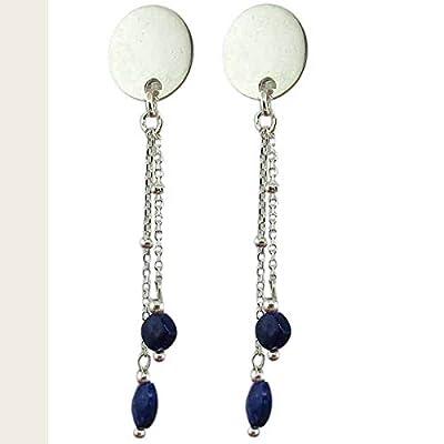 Boucle d'oreille clip Lapis Lazuli argent925