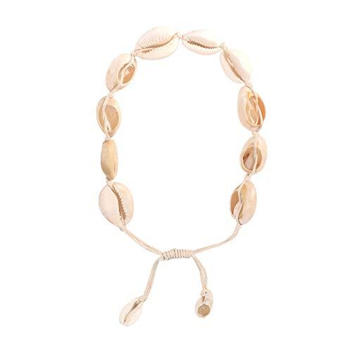 sudalv1971 Mode Handgemachte Muschel Choker Halskette Kette Fußkettchen Strand Schmuck Geschenk Für Frauen Mädchen Halskette