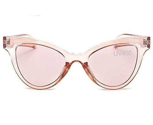 ZHAS High-End-Brillen Sonnenbrillen Frauen Bunte transparente Sonnenbrillen Weibliche Candy Lens Uv400 Eyewear Weibliche Vintage-Brillen Personalisierte High-End-Sonnenbrillen Pink