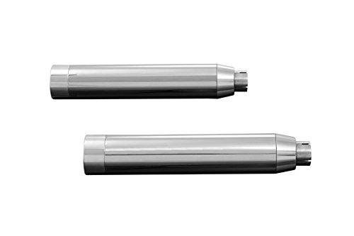 HIGHWAY HAWK HH657-2002 Schalldämpfer STRAIGHT CUT, chrom Abdeckung, H-D FXDF FAT BOB 08-, FXDWG WIDE GLIDE 10 -, E-geprüft