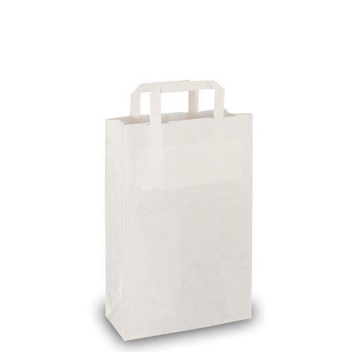 25 Papiertragetaschen weiß 22x10x36 cm