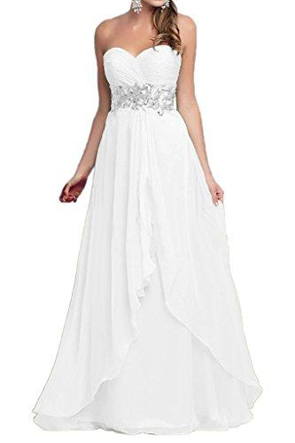 Victory bridal tendance hi-lo forme courte abendkleider tanzkleider sommerkleider brautjungfernkleider chiffon Weiß