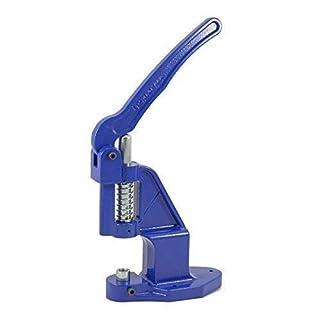 GETMORE Parts Ösenpresse (blau), Nietpresse, Druckknopfpresse, Lochstanze, Hebelpresse für Ösen, Druckknöpfe, Nieten, Leder, Textil, Plane, Filz- (BLUE-EDITION) -