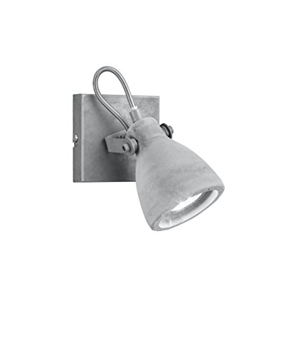 Trio Lighting Trio Concrete - Foco GU10 42 W, metal hormigón, gris...