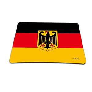 Luxburg® Design XL Gaming Mauspad Mousepad, Motiv: Deutschladflagge