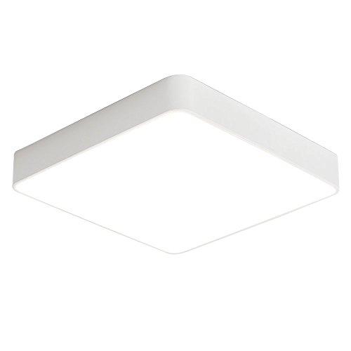 SAILUN 18W Warmweiß LED Einfach Deckenlampe Platz Deckenleuchte für Schlafzimmer Küche Flur Wohnzimmer Lampe Wandleuchte Energie Sparen Licht Weiß -
