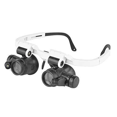 Koimg Lupe, 8X,15X,23X Brille Gläser leselupe Magnifier Loupe Lupe LED Beleuchtet Doppel Augen Juwelier Uhr Reparatur Magnifying Glasses Lupen Stirnband Magnifier