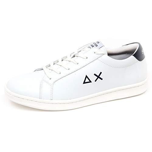 2d0a42d115aa8 E8716 Sneaker uomo White BLU SUN 68 Scarpe Shoe Man  44