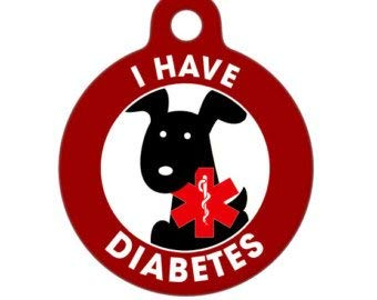 Medical ID Tag - I Have Diabetes Dog Medical Alert from Pet ID Tag