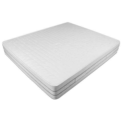 Baldiflex Easy 2.0 in Memory Foam Materasso Memoria, Poliuretano, Bianco, 160x190x22cm