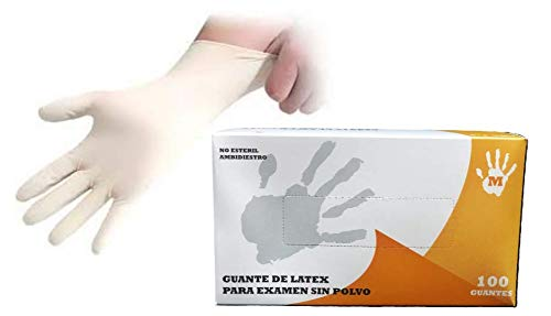 Guantes latex médicos desechables sin polvo Caja