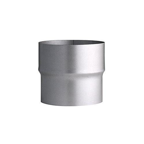 Kamino Flam Erweiterung silber, rostfreie Rohrerweiterung aus feueraluminiertem Stahl, geprüft nach Norm EN 1856-2, zum Anschluss von 110 mm in ein 120 mm Rohr -
