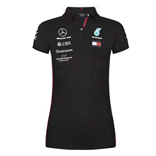 Official Formula One Merchandise   Damen   Offizielle Mercedes-AMG Petronas Motorsport 2019 F1TM   Team Poloshirt   Schwarz   Baumwolle und Elestan   Größe: M -