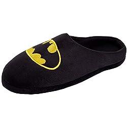 DC Comics - Zapatillas de Batman para Hombre con Espalda Abierta, Color Negro, Talla 47 EU