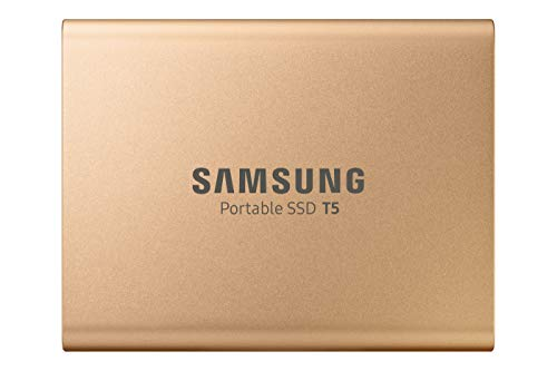Samsung MU-PA1T0G/EU Portable SSD T5 1 TB (USB 3.1 bis zu 540 MB/s, inkl. USB Kabel Typ C auf C und Typ C auf A) rose gold -