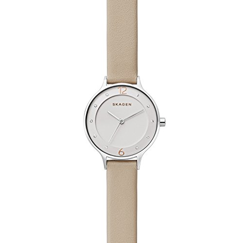 Skagen Womens Analogue Quartz Watch with Leather Strap SKW2648 Best Price and Cheapest