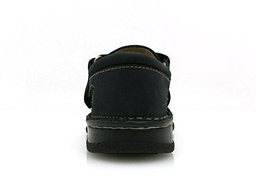 Ma-Ra Sandales En Cuir Chaussures garçon pour été marron bleu 6268 Bleu