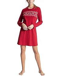 Calida Damen Family & Friends Nachthemd, Rot (Rio red 167), 48 (Herstellergröße:L)