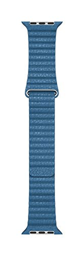 apple watch loop in pelle blu profondo (44 mm) - large