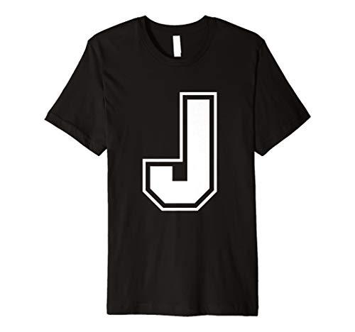 (Buchstabe J T-Shirt–Mehr Farben und Buchstaben erhältlich)