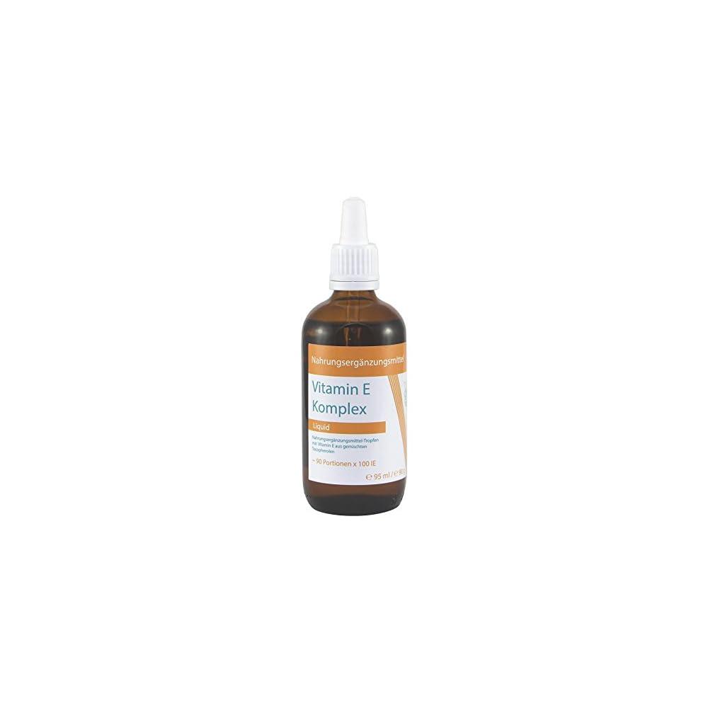 Vitaragna Vitamin E Komplex Flssig Natrliches Tocopherol Vitamin E L In Bioaktiver Form In Hochwertigem Sonnenblumenl Gelst Als Hochdosiertes Liquid Mit 100 Ie In 1g 95ml