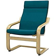 soferia ikea poang housse de fauteuil elegance turquoise - Fauteuil Ikea Bleu