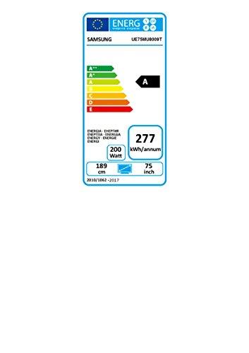 Samsung MU8009 189 cm (75 Zoll) Fernseher (Ultra HD, Twin Tuner, HDR 1000, Smart TV) [Energieklasse A] - 2
