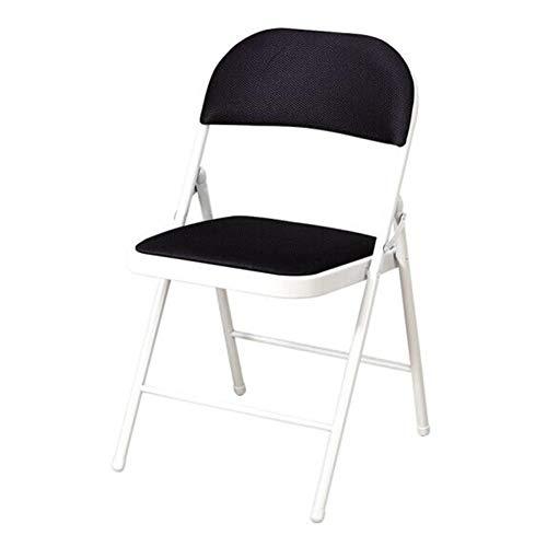 QIDI Chaise Pliante, Tabouret Pliant, Chaise de Bureau, Chaise d'ordinateur, Métal, Bureau Moderne Pliable de simplicité Moderne - Multicolore en Option (Couleur : Noir)
