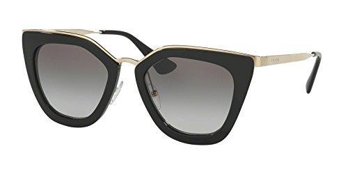 Prada Damen Sonnenbrille 0PR17SS 1AB0A7, Schwarz (Black/Grey), 53 (Prada-sonnenbrille)