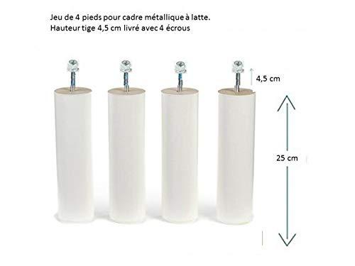 Magasin en ligne 5 Pieds 25 Cm Blanc Pour Cadre Lattes (Ttiges Longues et Ecrous)
