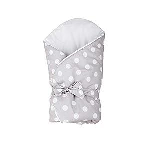 Vizaro – Arrullo – Manta – Mantita Envolvente Bebé – Acolchado – Muy Suave – 100% Algodón – Hecho UE, OekoTex – Lunares