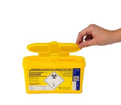Sharpsguard Sharps Bin 1 litre - Yellow
