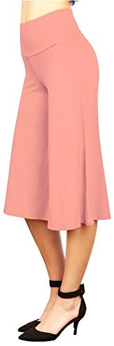 happy-lily-frauen-hohe-taille-breit-bein-culotte-palazzo-bell-unten-yoga-hose-rosa