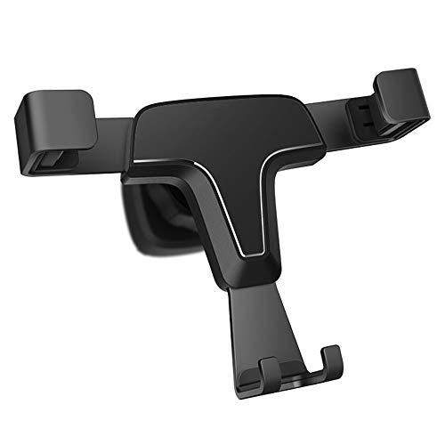 Halter Schwerkraft kompatibler Autotelefonhalter, Armaturenbrett Windschutzscheibe Universal Handy Cradle Mount mit starkem Sauger Mehr,Black -
