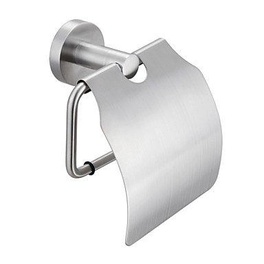 XX&GX Brushed Stainless Steel Toilet Paper Holder Single Roll with Cover,A2070