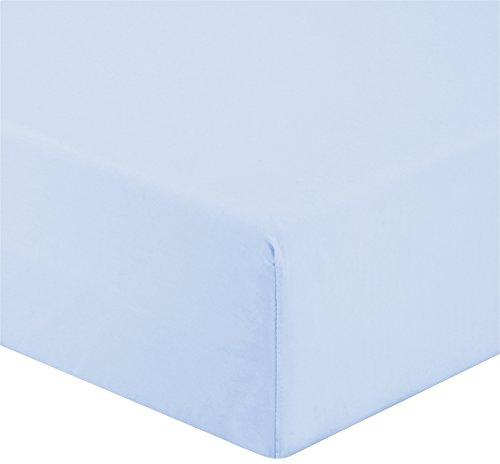 Gabel di più colore e benessere sottolenzuolo, percalle, azzurro chiaro, singolo, 200x90x0.3 cm