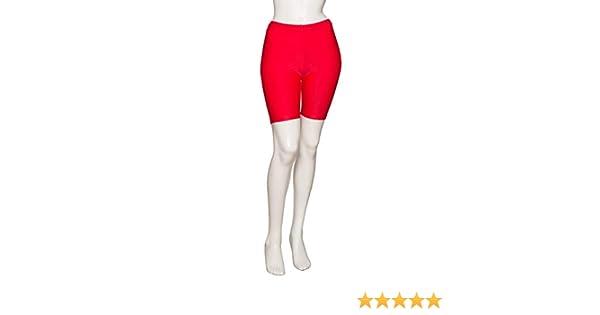 Katz Dancewear Red Shiny Lycra Shorts Dance Gymnastics Cycle Shorts Leggings SALE
