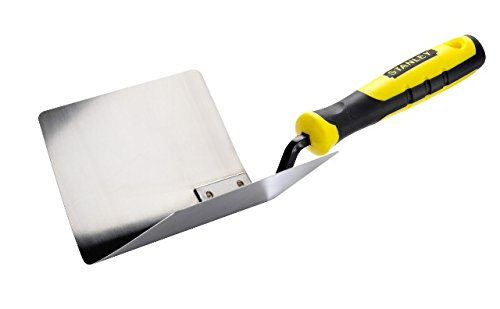 Stanley Innen-Eckspachtel (aus rostfreiem Stahl, Bi-Material Handgriff, Griffaussparung, konische Form) STHT0-05777