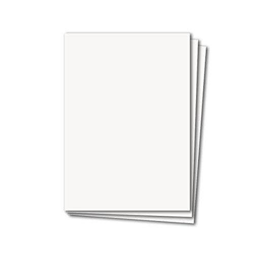 40 Stück DIN A4 Karten Planobogen - Hochweiss | 250 g/m² | Bastelbogen - Kartenkarton - Bastelkarte | 210 x 297 mm | formstabil | für Drucker geeignet | Qualitätsmarke: NEUSER