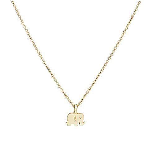 pinhui Halskette mit Anhänger mit Nachricht Karte Kette Schmuck Geschenke, vergoldet (Elefant) - Fedora-pin