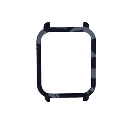 Wawer Camouflage PC Fall Abdeckung schützen Shell für Xiaomi Huami Amazfit Bip Jugend Uhr leicht zu installieren und zu entfernen volle Schutzkante (Colour A)