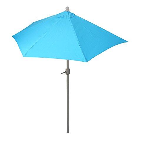 Mendler ombrellone da balcone salvaspazio parla 135x260x252cm azzurro senza base