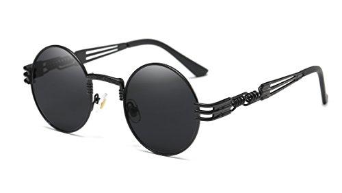 GAMT Runde Steampunk Sonnenbrille Vintage Metallrahmen Brille Herren Damen