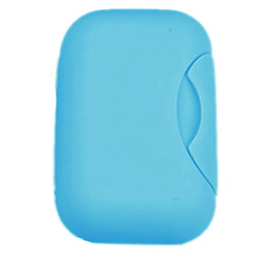 Sukisuki Candy Color Plastic Travel Portable Leakproof Soap Dish Box Case Holder Container (Blue)