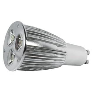 Alcasa Power LED, GU10, 230V, 7,5W, 260lm, Ø 50 x 100mm, 4000K, Abstrahlwinkel: 45°, dimmbar, CRI-Wert: 90, warmweiß