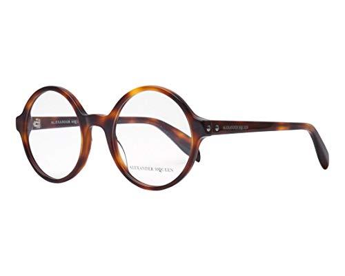 Alexander McQueen Brille (AM-0133-O 002) Acetate Kunststoff glänzend havana - Alexander Mcqueen-brille