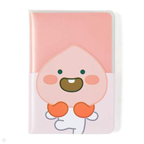 KAKAO FRIENDS Pass-Halter-Abdeckungs-Fall Reise Brieftasche Multi Taschen süßer Charakter 19.2 x 13.5 cm Kleiner Apeach -