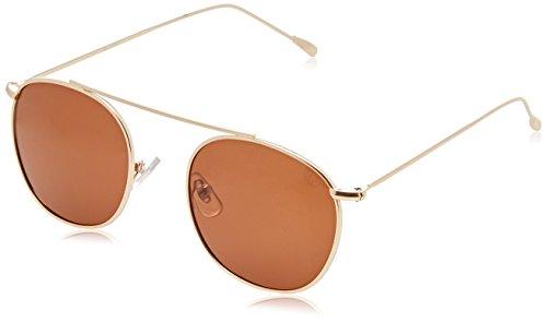 Ocean Unisex-Erwachsene round eye Sonnenbrille, Gold (Oro), 43