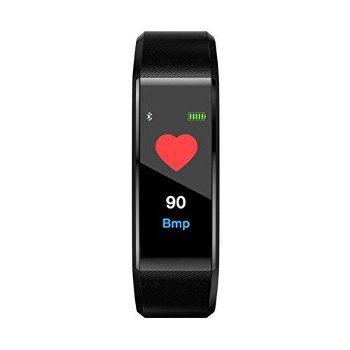Bellelove Femmes Hommes Intelligent Électronique Poignet Gadgets Smart montre Bande Sommeil Sport Fitness Podomètre Bracelet Montre avec Coloré UI (Noir)