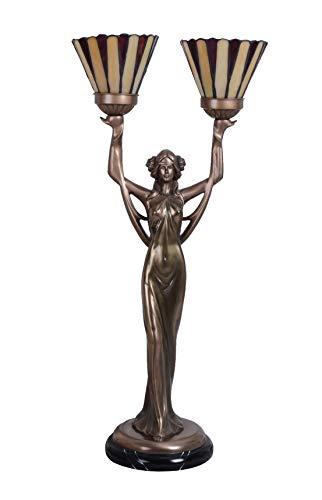 Tischlampe Jugendstil Tiffany Schirme Leuchte Frauenskulptur Lampe IS276 Palazzo Exklusiv